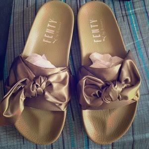 Fenty Beauty Shoes - Fenty Bow Slides - Size 38 / Women's 7.5